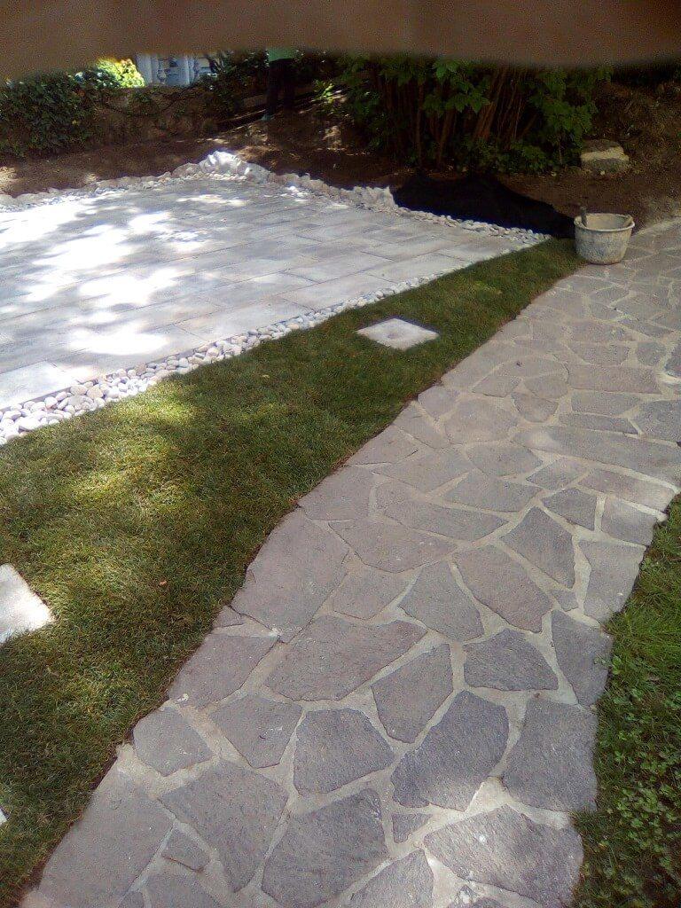 tlakovanje vrta in parkirišča 1